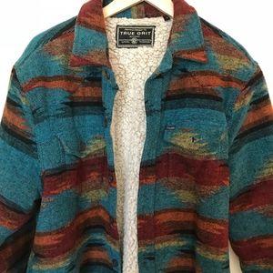 True Grit Shirt Jacket with Sherpa Lining | Medium